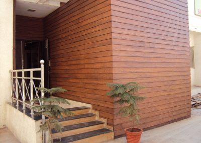 Lama de fibrocemento textura madera